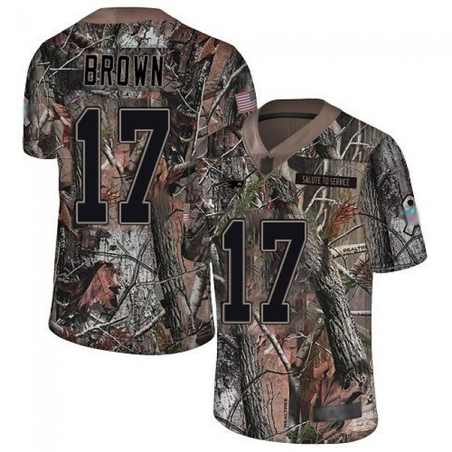 Nike Patriots #17 Antonio Brown Camo Men's Stitched NFL Limited Rush Realtree Jersey