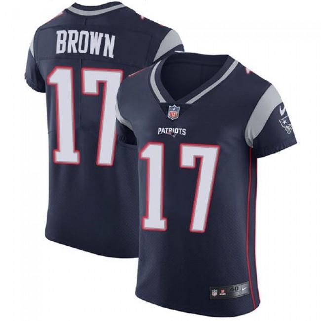 Nike Patriots #17 Antonio Brown Navy Blue Team Color Men's Stitched NFL Vapor Untouchable Elite Jersey