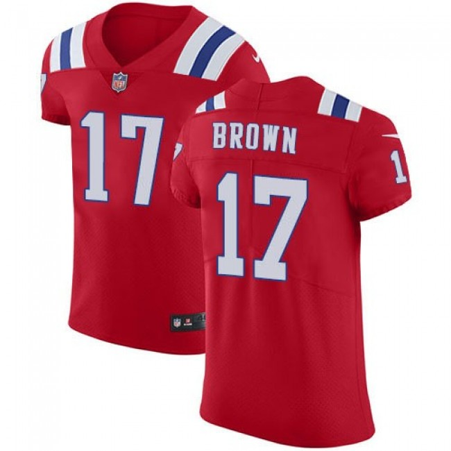 Nike Patriots #17 Antonio Brown Red Alternate Men's Stitched NFL Vapor Untouchable Elite Jersey