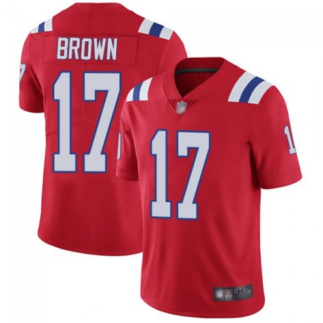 Nike Patriots #17 Antonio Brown Red Alternate Men's Stitched NFL Vapor Untouchable Limited Jersey