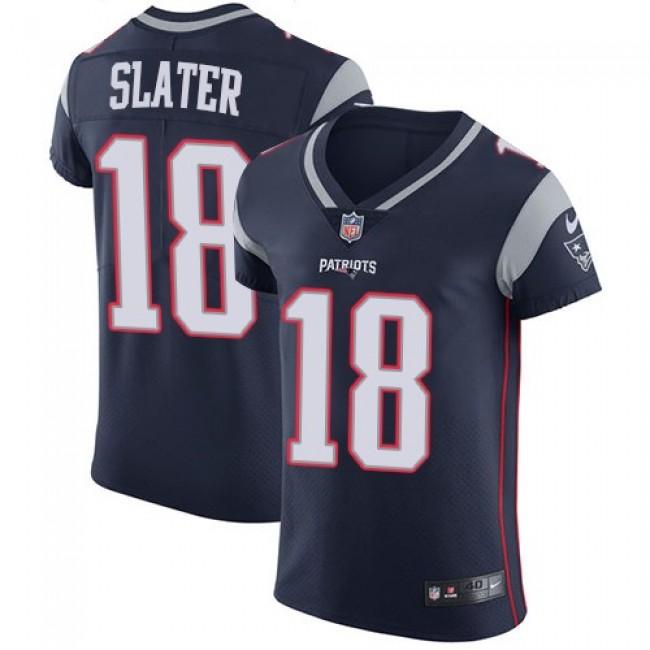 Nike Patriots #18 Matt Slater Navy Blue Team Color Men's Stitched NFL Vapor Untouchable Elite Jersey