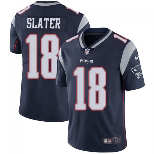 Nike Patriots #18 Matt Slater Navy Blue Team Color Men's Stitched NFL Vapor Untouchable Limited Jersey
