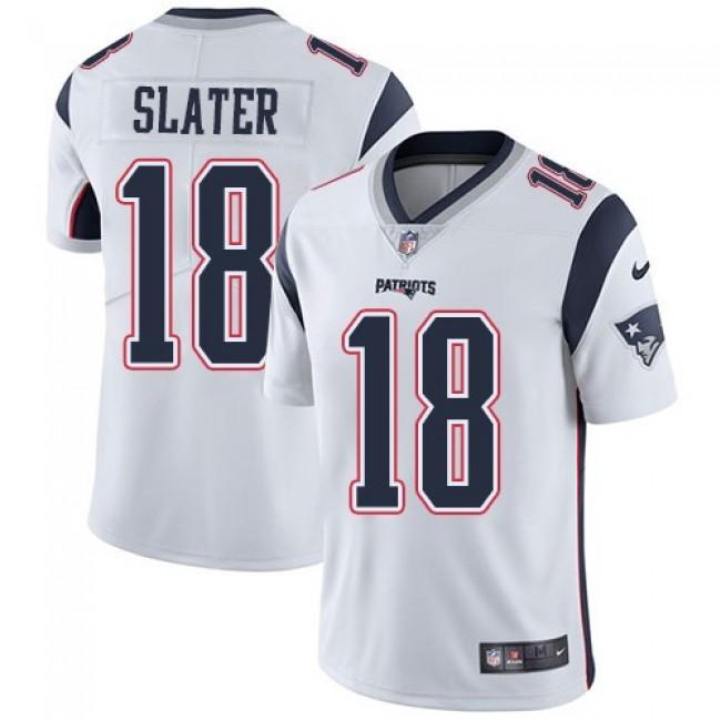 Nike Patriots #18 Matt Slater White Men's Stitched NFL Vapor Untouchable Limited Jersey