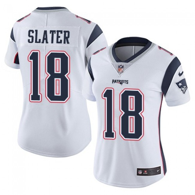 Women's Patriots #18 Matt Slater White Stitched NFL Vapor Untouchable Limited Jersey