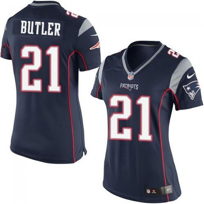 Women's Patriots #21 Malcolm Butler Navy Blue Team Color Stitched NFL New Elite Jersey