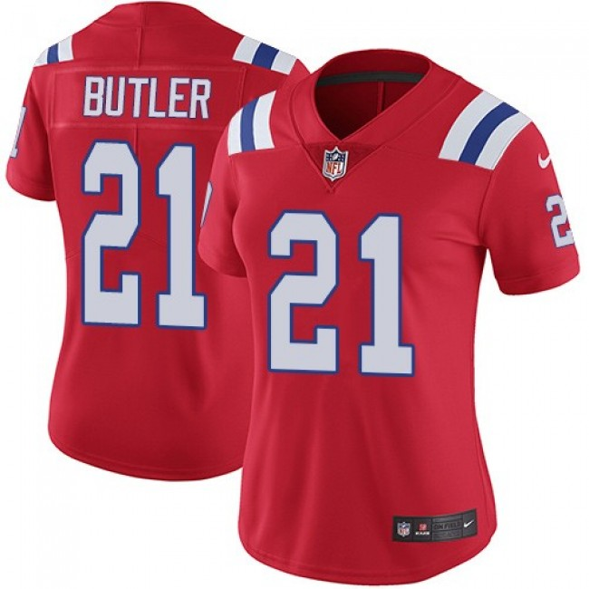 Women's Patriots #21 Malcolm Butler Red Alternate Stitched NFL Vapor Untouchable Limited Jersey