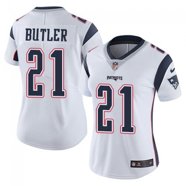 Women's Patriots #21 Malcolm Butler White Stitched NFL Vapor Untouchable Limited Jersey