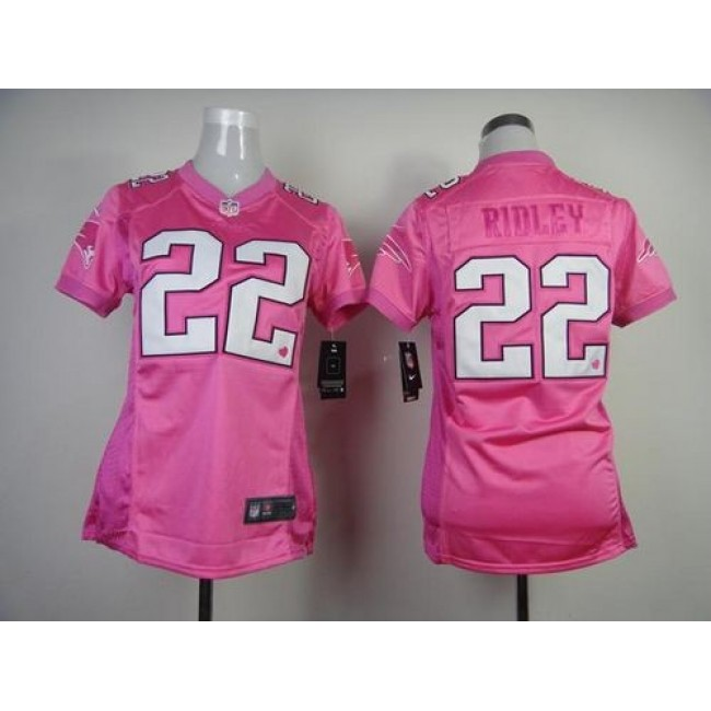 Women's Patriots #22 Stevan Ridley Pink Be Luv'd Stitched NFL New Elite Jersey