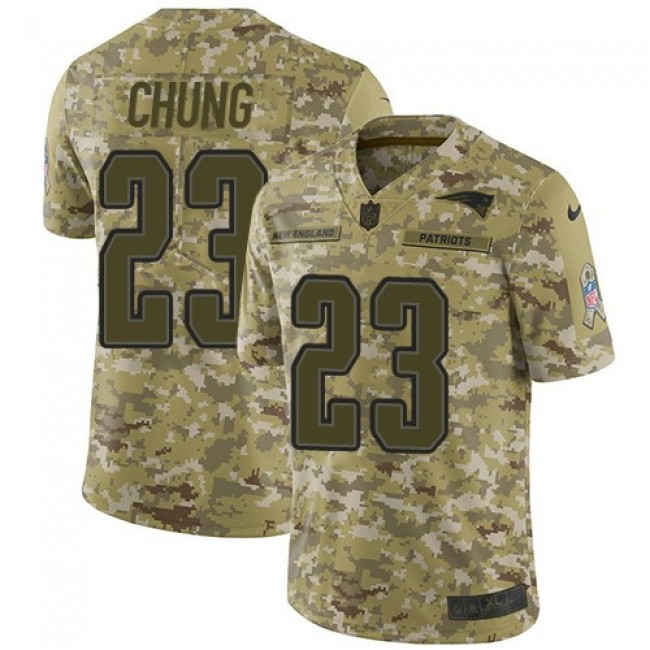 Nike Patriots #23 Patrick Chung Camo Men's Stitched NFL Limited 2018 Salute To Service Jersey