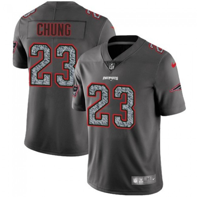 Nike Patriots #23 Patrick Chung Gray Static Men's Stitched NFL Vapor Untouchable Limited Jersey
