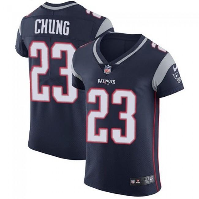 Nike Patriots #23 Patrick Chung Navy Blue Team Color Men's Stitched NFL Vapor Untouchable Elite Jersey
