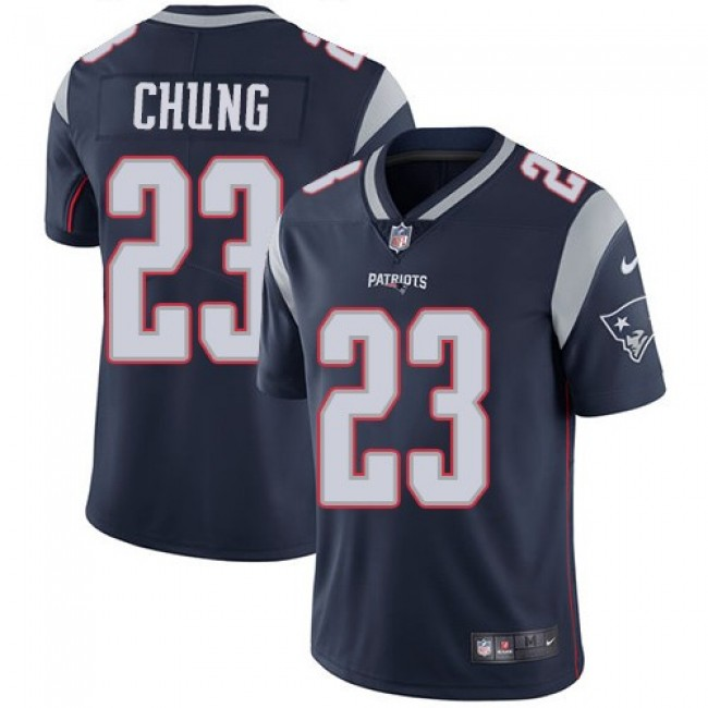 Nike Patriots #23 Patrick Chung Navy Blue Team Color Men's Stitched NFL Vapor Untouchable Limited Jersey