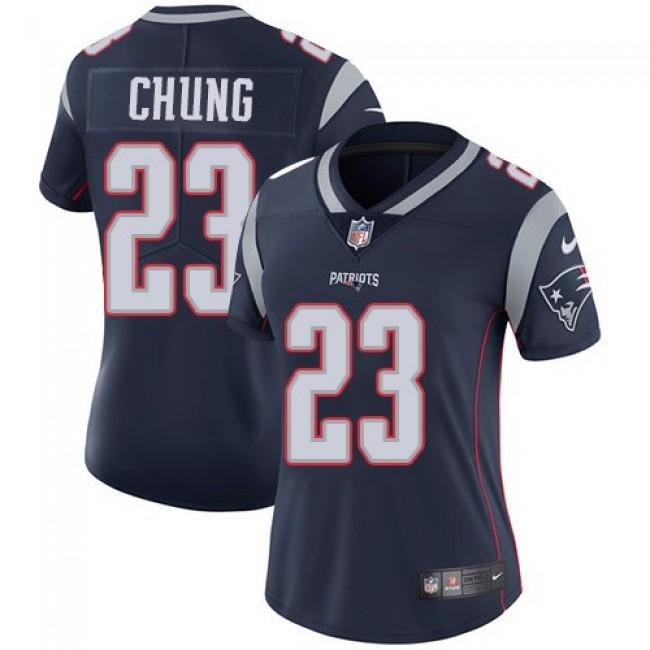 Women's Patriots #23 Patrick Chung Navy Blue Team Color Stitched NFL Vapor Untouchable Limited Jersey