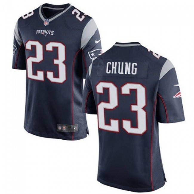 New England Patriots #23 Patrick Chung Navy Blue Team Color Youth Stitched NFL New Elite Jersey