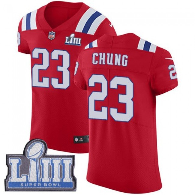 Nike Patriots #23 Patrick Chung Red Alternate Super Bowl LIII Bound Men's Stitched NFL Vapor Untouchable Elite Jersey