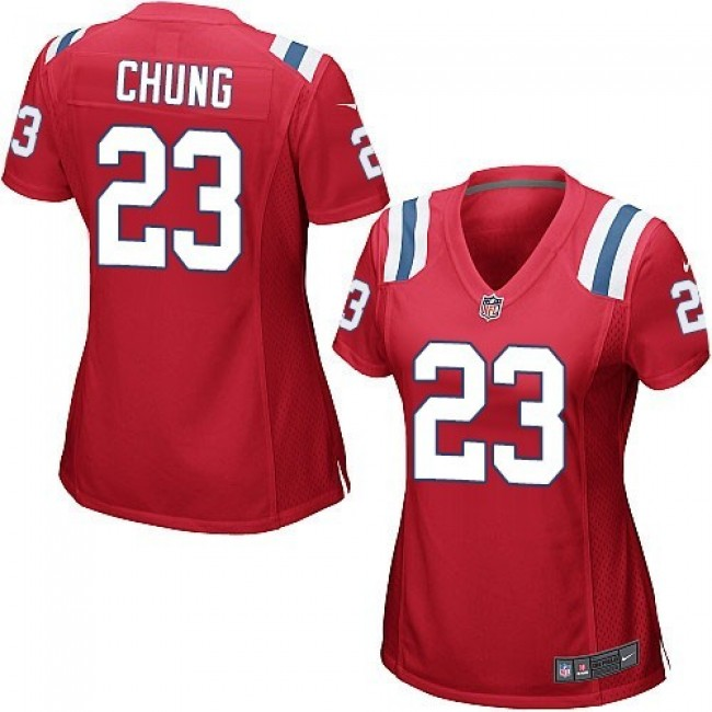 Women's Patriots #23 Patrick Chung Red Alternate Stitched NFL Elite Jersey
