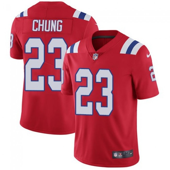 New England Patriots #23 Patrick Chung Red Alternate Youth Stitched NFL Vapor Untouchable Limited Jersey