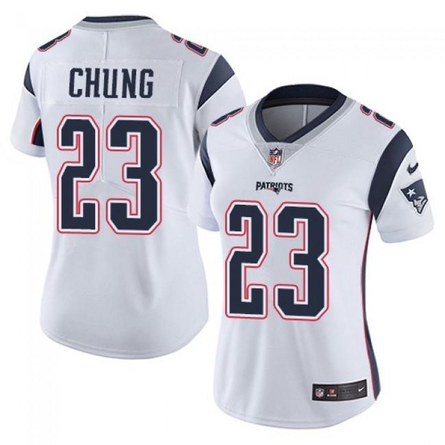 Women's Patriots #23 Patrick Chung White Stitched NFL Vapor Untouchable Limited Jersey