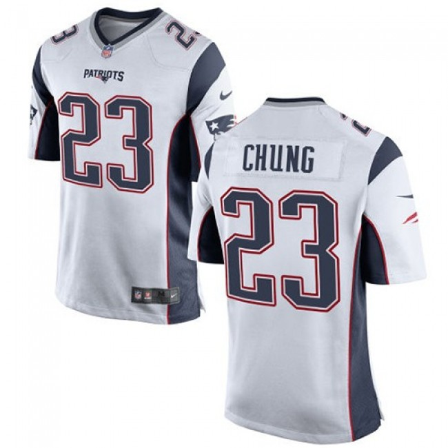 New England Patriots #23 Patrick Chung White Youth Stitched NFL New Elite Jersey