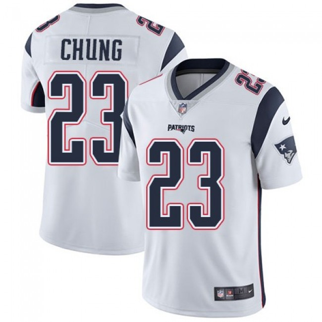 New England Patriots #23 Patrick Chung White Youth Stitched NFL Vapor Untouchable Limited Jersey