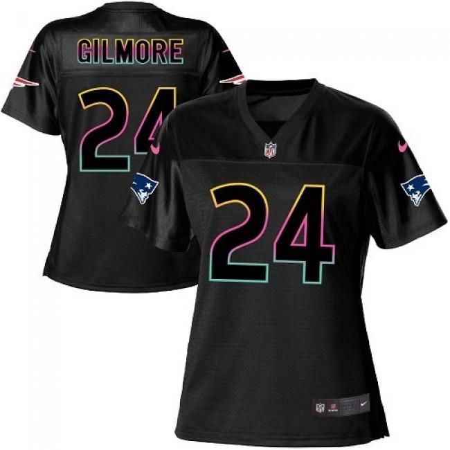 Women's Patriots #24 Stephon Gilmore Black NFL Game Jersey