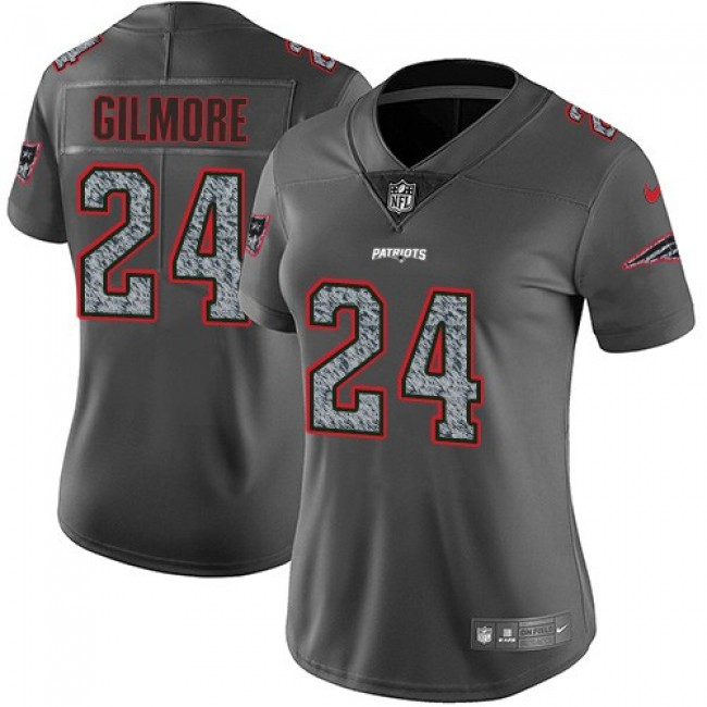 Women's Patriots #24 Stephon Gilmore Gray Static Stitched NFL Vapor Untouchable Limited Jersey