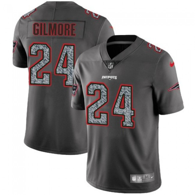 New England Patriots #24 Stephon Gilmore Gray Static Youth Stitched NFL Vapor Untouchable Limited Jersey