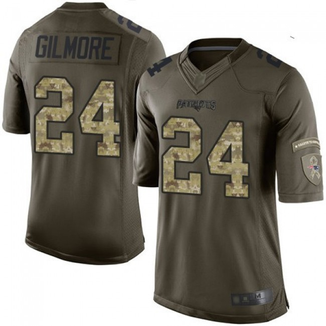 Nike Patriots #24 Stephon Gilmore Green Men's Stitched NFL Limited 2015 Salute To Service Jersey