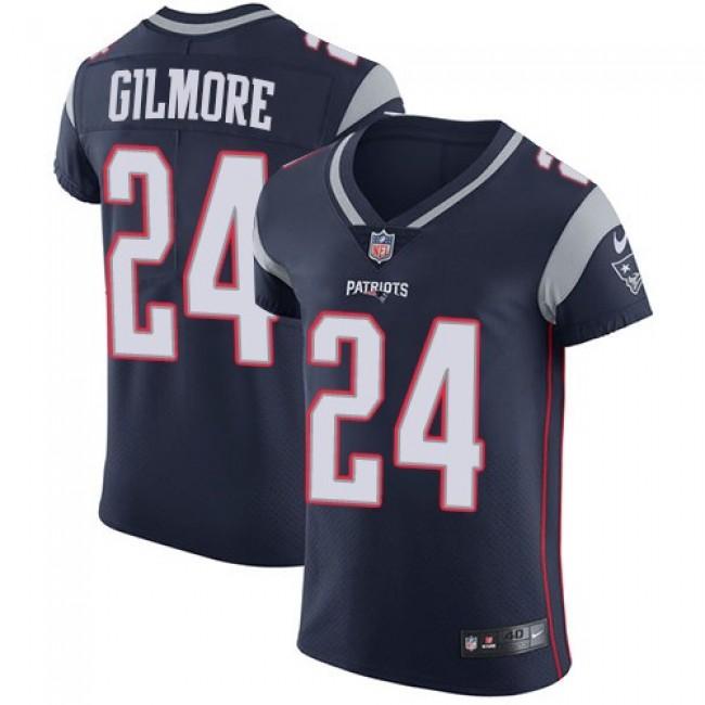 Nike Patriots #24 Stephon Gilmore Navy Blue Team Color Men's Stitched NFL Vapor Untouchable Elite Jersey