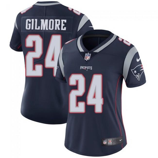 Women's Patriots #24 Stephon Gilmore Navy Blue Team Color Stitched NFL Vapor Untouchable Limited Jersey