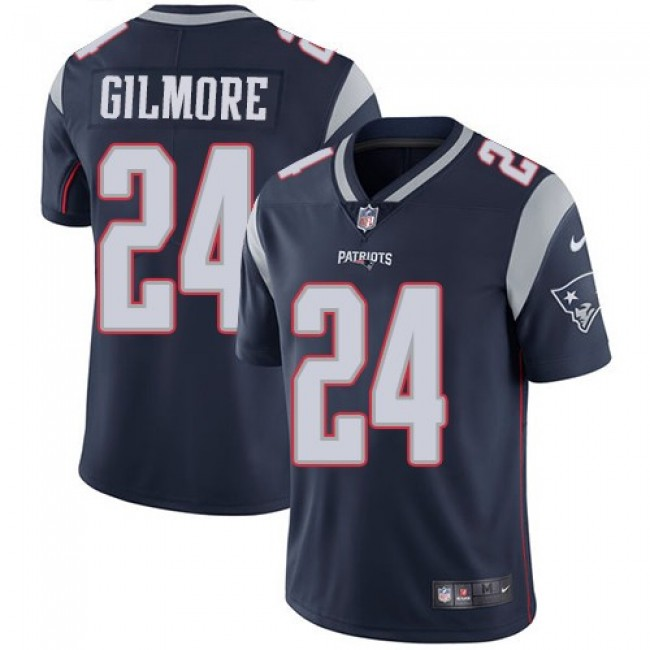 New England Patriots #24 Stephon Gilmore Navy Blue Team Color Youth Stitched NFL Vapor Untouchable Limited Jersey