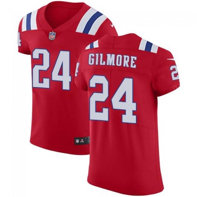 Nike Patriots #24 Stephon Gilmore Red Alternate Men's Stitched NFL Vapor Untouchable Elite Jersey