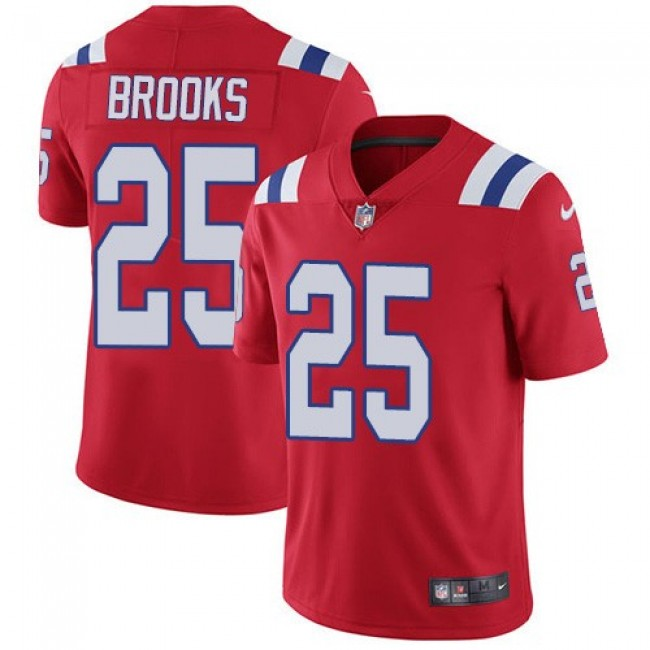 Nike Patriots #25 Terrence Brooks Red Alternate Men's Stitched NFL Vapor Untouchable Limited Jersey