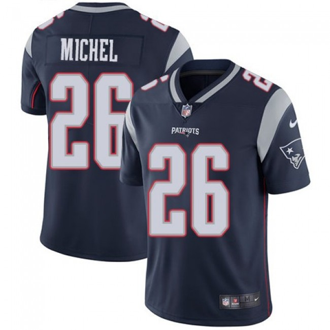 Nike Patriots #26 Sony Michel Navy Blue Team Color Men's Stitched NFL Vapor Untouchable Limited Jersey
