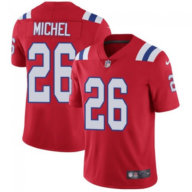 Nike Patriots #26 Sony Michel Red Alternate Men's Stitched NFL Vapor Untouchable Limited Jersey