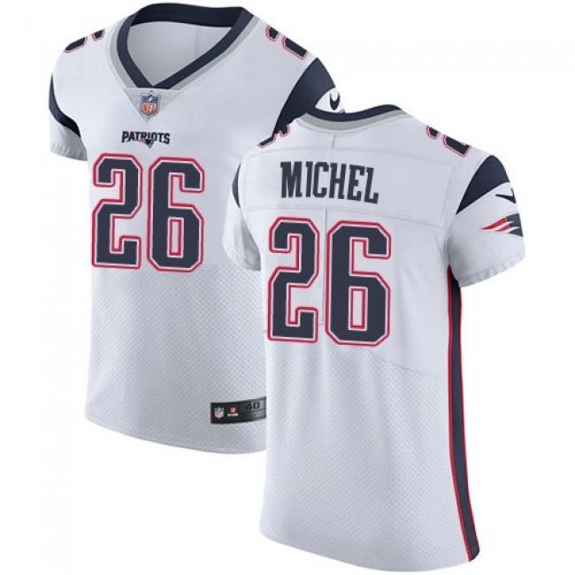 Nike Patriots #26 Sony Michel White Men's Stitched NFL Vapor Untouchable Elite Jersey