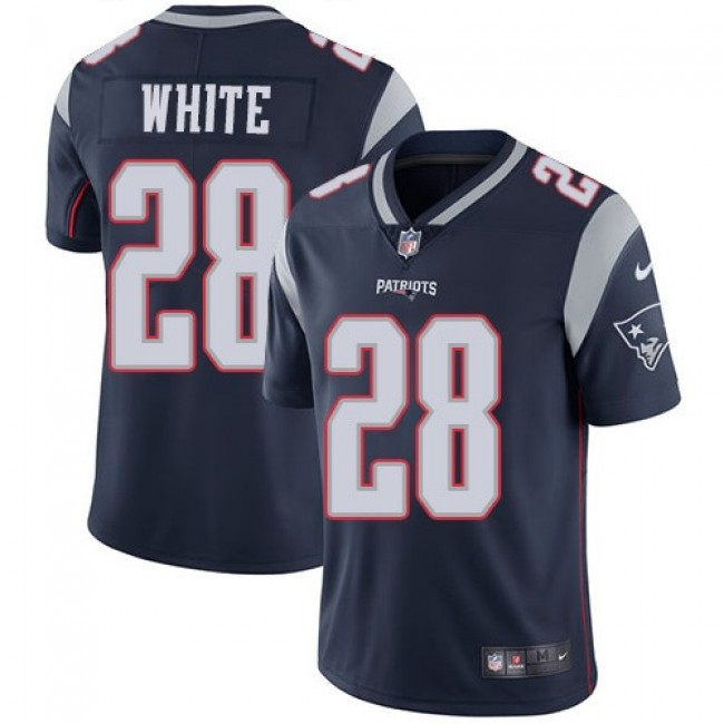 New England Patriots #28 James White Navy Blue Team Color Youth Stitched NFL Vapor Untouchable Limited Jersey