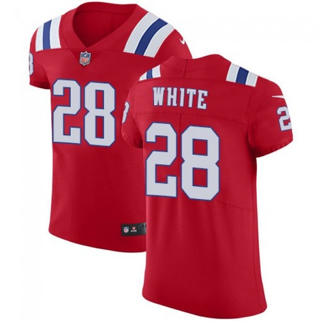Nike Patriots #28 James White Red Alternate Men's Stitched NFL Vapor Untouchable Elite Jersey