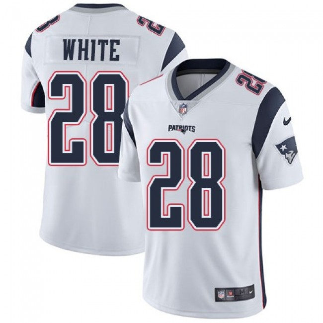 New England Patriots #28 James White White Youth Stitched NFL Vapor Untouchable Limited Jersey