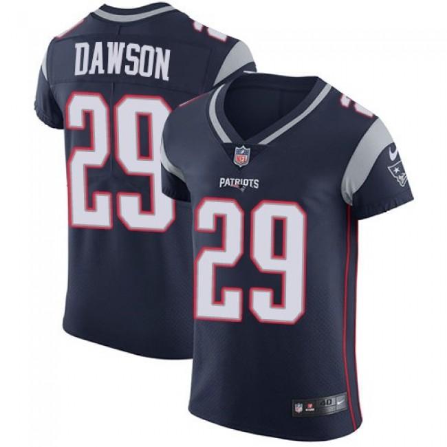 Nike Patriots #29 Duke Dawson Navy Blue Team Color Men's Stitched NFL Vapor Untouchable Elite Jersey