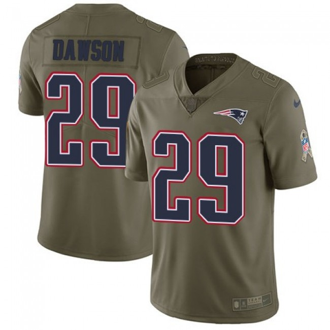 Nike Patriots #29 Duke Dawson Olive Men's Stitched NFL Limited 2017 Salute To Service Jersey