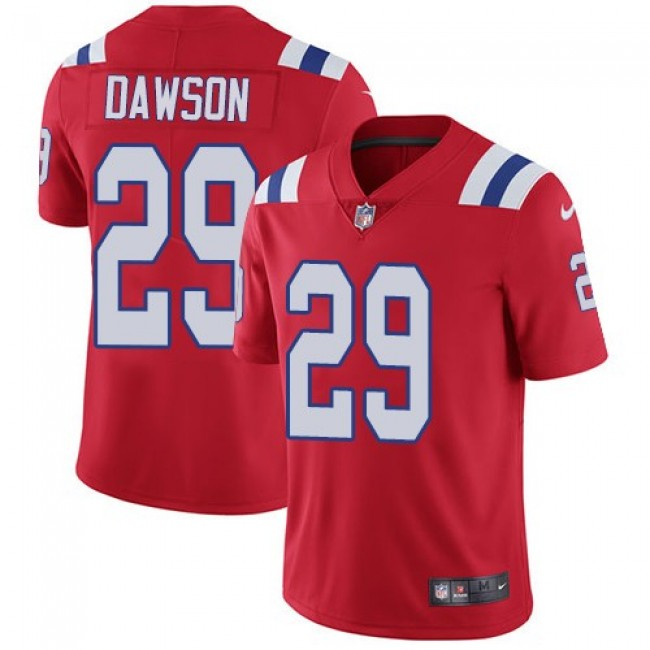 Nike Patriots #29 Duke Dawson Red Alternate Men's Stitched NFL Vapor Untouchable Limited Jersey
