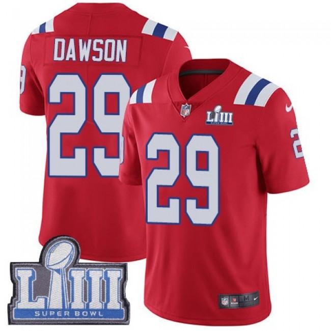 Nike Patriots #29 Duke Dawson Red Alternate Super Bowl LIII Bound Men's Stitched NFL Vapor Untouchable Limited Jersey