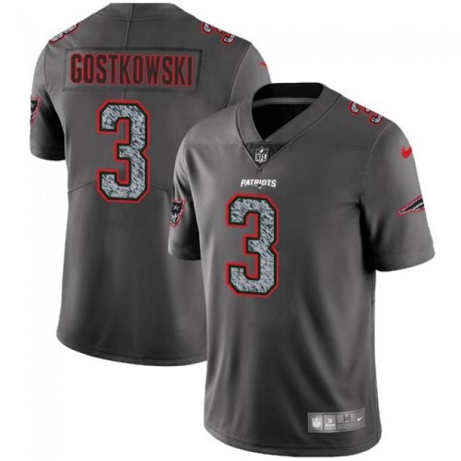 Nike Patriots #3 Stephen Gostkowski Gray Static Men's Stitched NFL Vapor Untouchable Limited Jersey