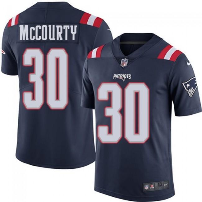 Nike Patriots #30 Jason McCourty Navy Blue Men's Stitched NFL Limited Rush Jersey