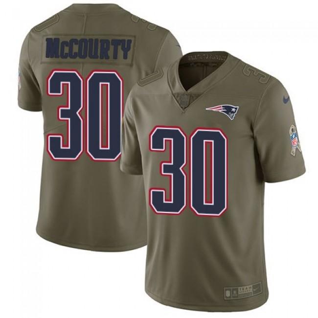 Nike Patriots #30 Jason McCourty Olive Men's Stitched NFL Limited 2017 Salute To Service Jersey
