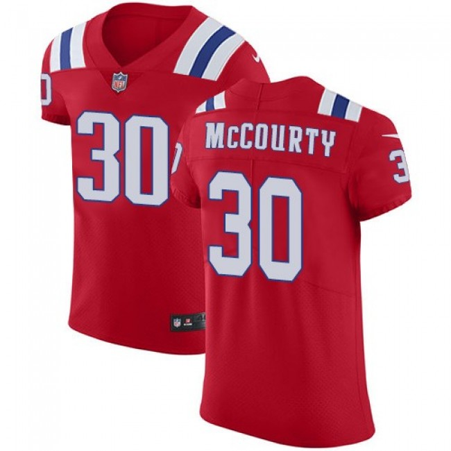 Nike Patriots #30 Jason McCourty Red Alternate Men's Stitched NFL Vapor Untouchable Elite Jersey