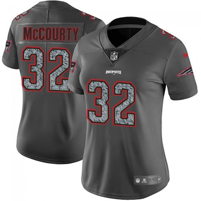 Women's Patriots #32 Devin McCourty Gray Static Stitched NFL Vapor Untouchable Limited Jersey