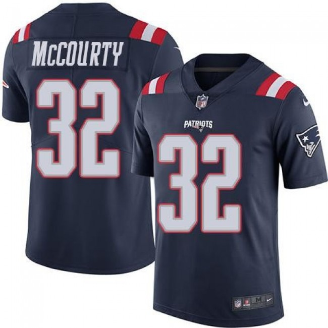 Nike Patriots #32 Devin McCourty Navy Blue Men's Stitched NFL Limited Rush Jersey