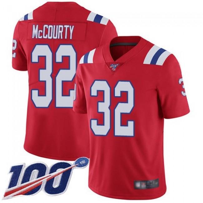 Nike Patriots #32 Devin McCourty Red Alternate Men's Stitched NFL 100th Season Vapor Limited Jersey